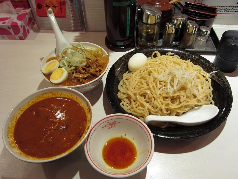 極冷し 太麺 麺特大 半蒙古丼 ゆでたまご ¥850 + ¥60 + ¥110 + ¥480 + ¥0