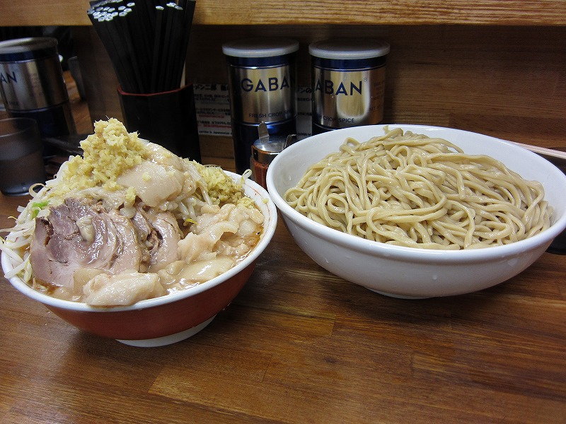 大 つけ麺 麺増し しょうが  ¥950 + ¥100以上 + ¥50