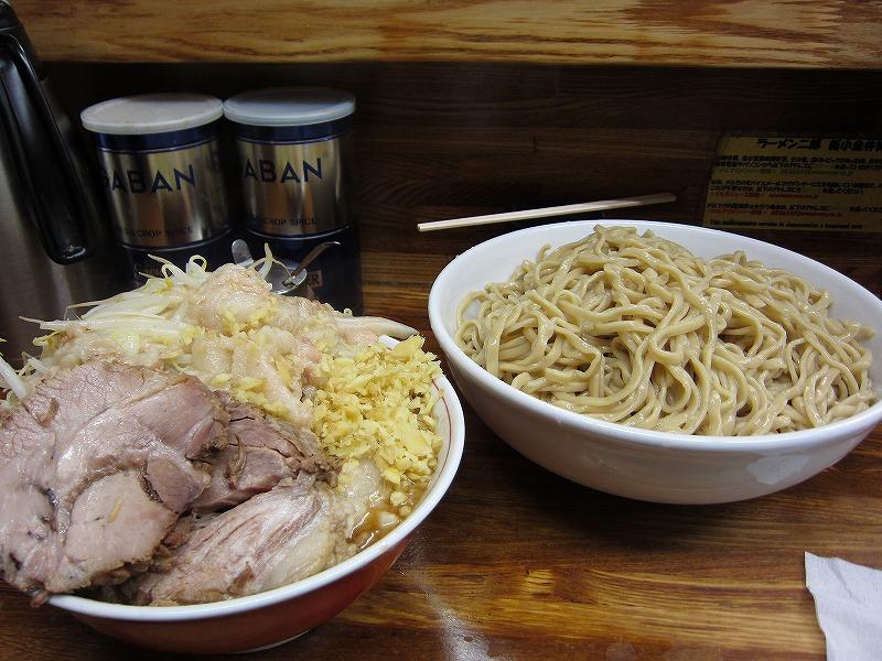大つけ麺 しょうが 麺増し   ¥950 + ¥50 + ¥100以上