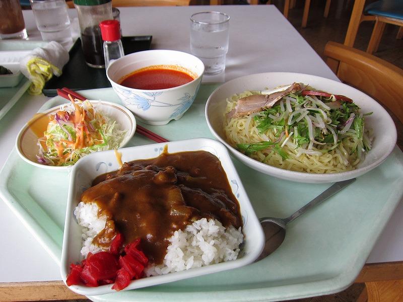 冷やし坦々麺セット 両方大盛り ¥550 + ¥120