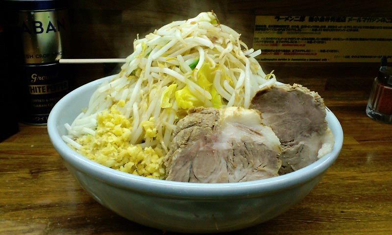 大 麺カタメ ちょい増し しょうが ¥800+¥50+ユニセフ募金