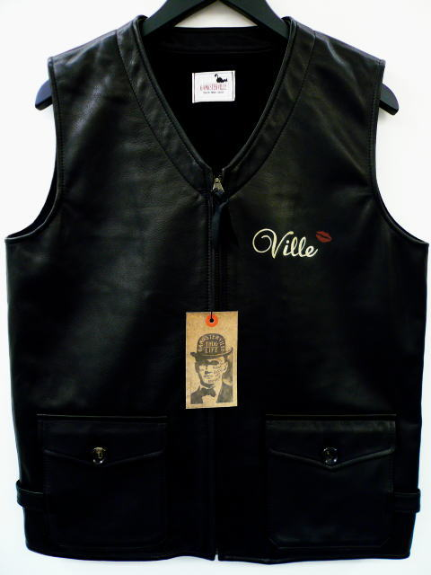 GANGSTERVILLE G.V. Leather VEST