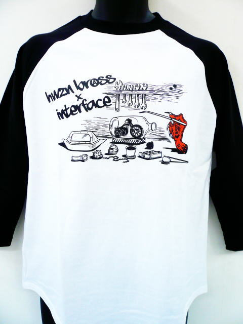 INTERFACE×HWZN BROSS Bottle Bike RAGLAN TEE