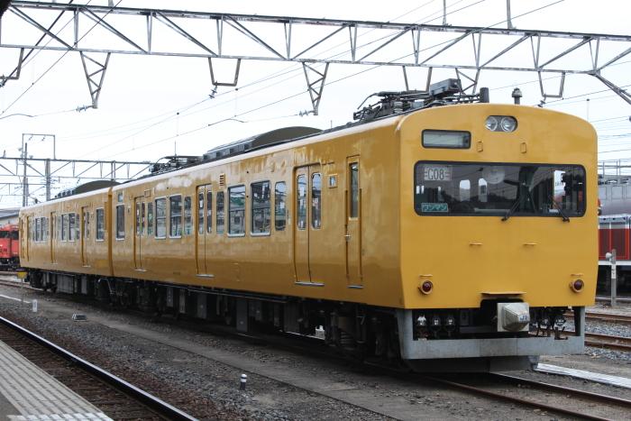 115系オカG08編成(末期色)