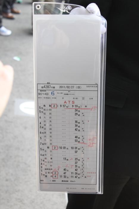 豊岡駅で乗務員さんのご厚意で撮影できたスタフ