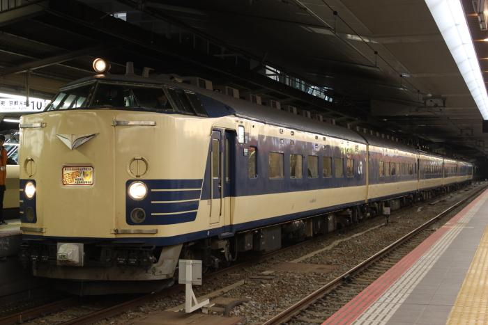 583系秋田車の甲子園臨
