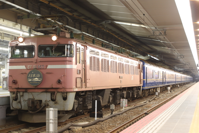 EF81-107の日本海(入場前)