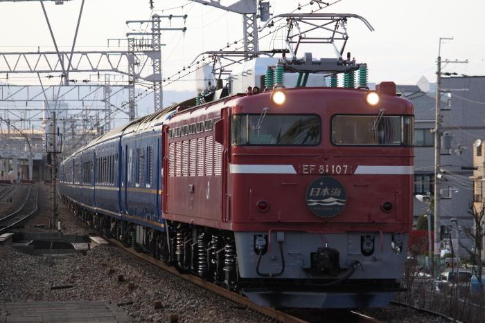 EF81-107復帰初日の日本海