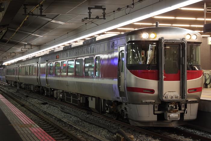 3両のキハ189系(営業開始前、京都側幌つき)