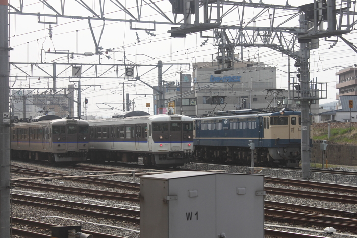 岡山発車時の光景