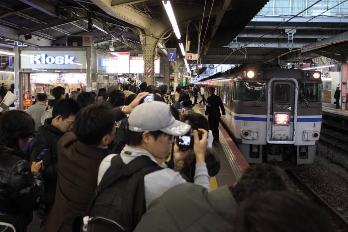 最終浜坂行きと撮影者(12/23)