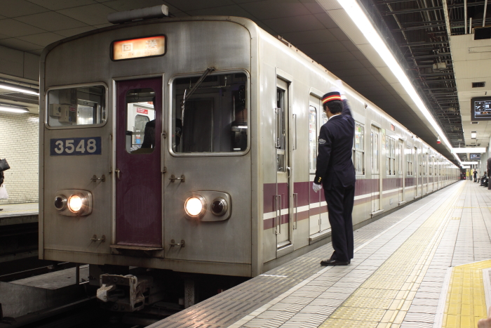廃車回送される3048F(森ノ宮)