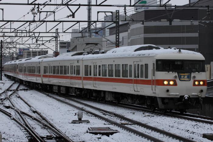117系カキS18編成先頭の快速金山行き(名古屋)