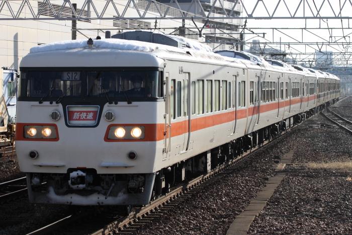 117系カキS12+S11編成の新快速名古屋行き(刈谷)