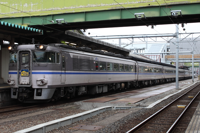 米子駅停車中の「ありがとうキハ181系」号(復路)