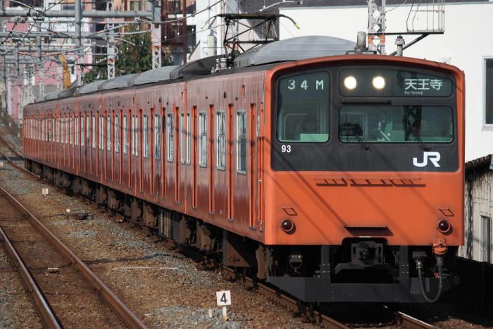 普通の201系(桃谷)