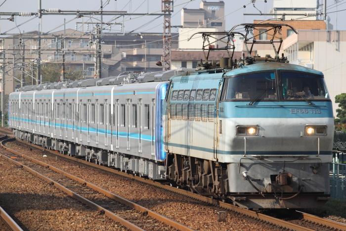 EF66 113(吹)+名古屋市交N3000系(近江八幡)