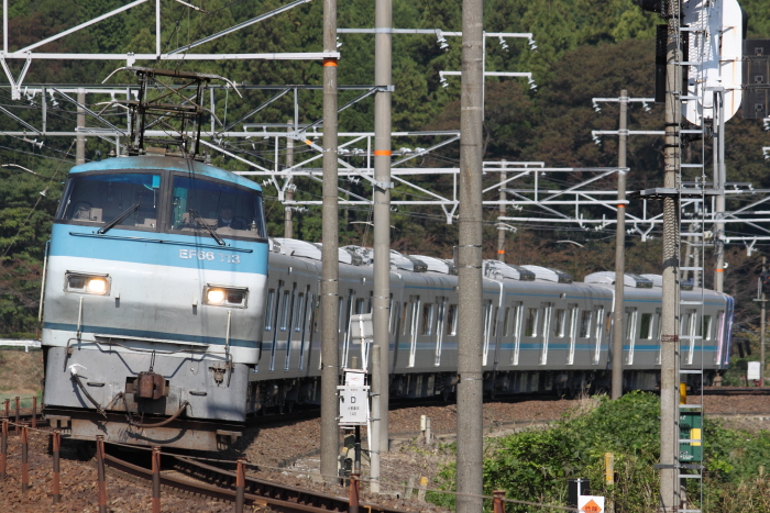 EF66 113(吹)+名古屋市交N3000系(近江長岡ー柏原)