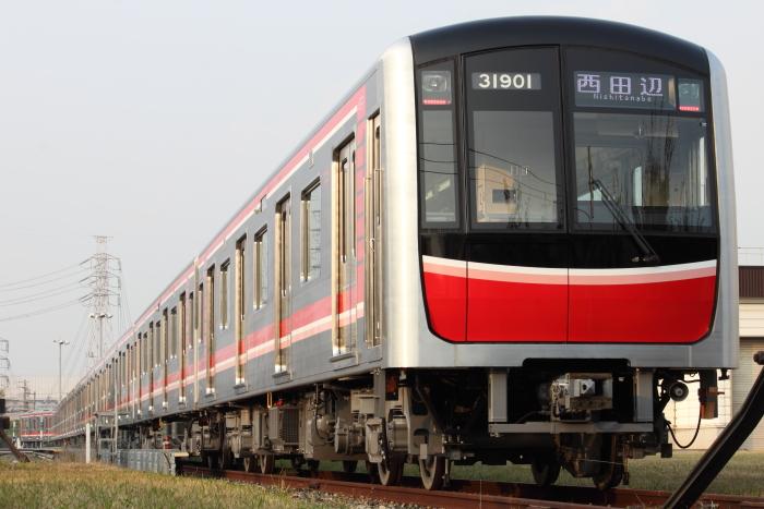 「西田辺」表示の30000系