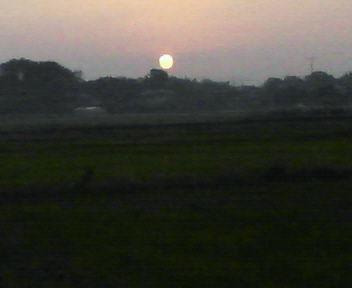 20111104布鎌の夕日(晩秋)