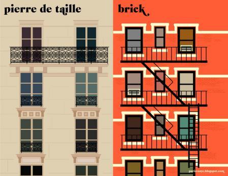 Paris vs NewYork_facades