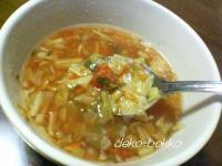 野菜たっぷり。。。トマトの欧風スープ