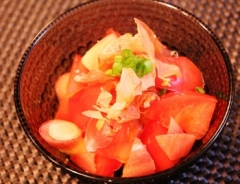 トマトみょうがの和風サラダ♪ (350x268)