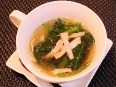 ほうれん草とベーコンのスープ (350x261)