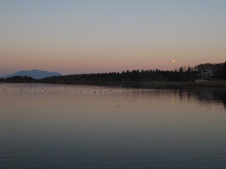 霊仙仙寺湖と夕焼け21
