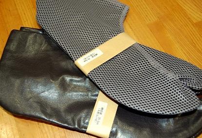 綿足袋 革 メッシュ