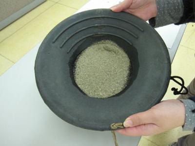 砂金採り体験