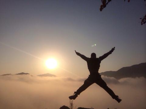 雲海へジャンプ!