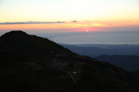 能登半島に沈む夕日
