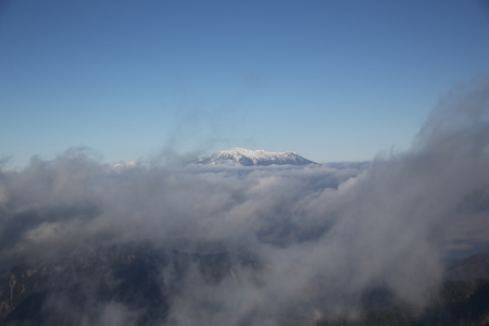 御嶽に雲は無し。もらった。