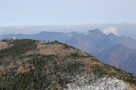 弥山と大普賢岳