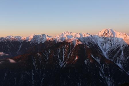 白峰三山モルゲンロート