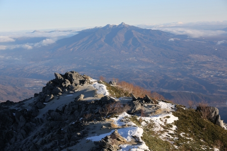八ヶ岳 雪少ない
