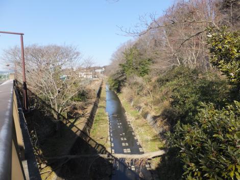 新八瀬橋より八瀬川上流を望む