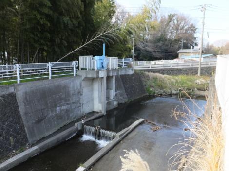 八瀬川取水施設・県道508号線付近