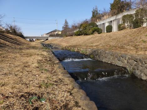 さかい橋付近より八瀬川上流を望む