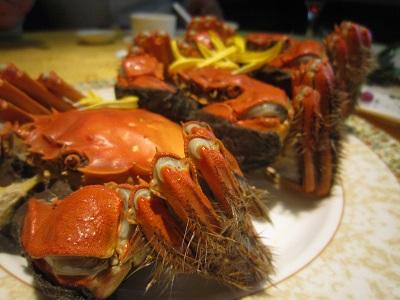 上海蟹 黄金色