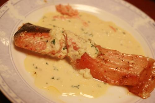 鮭のバジル焼き