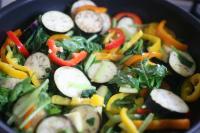 夏野菜カレー風味炒め