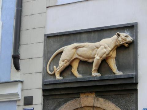 プラハ肉食獣の装飾