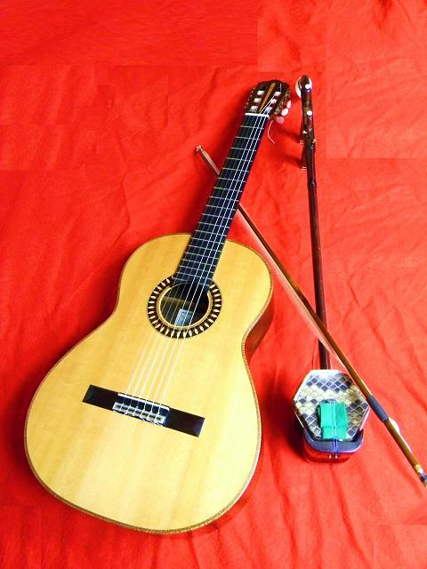二胡とギター小