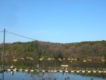 宮沢湖の釣り人
