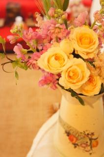 お花を飾って♪