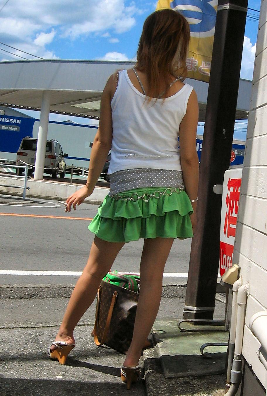 街撮り盗撮 着衣エロ画像 43