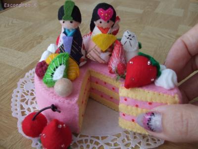 最後のお雛ケーキ