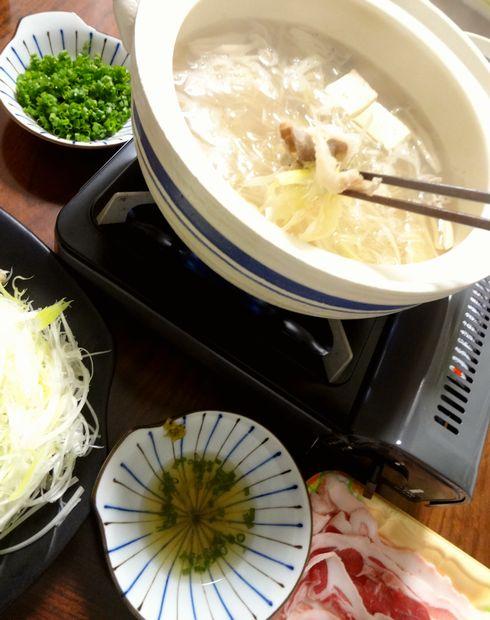 「豚しゃぶ蕎麦鍋」1(アップ)